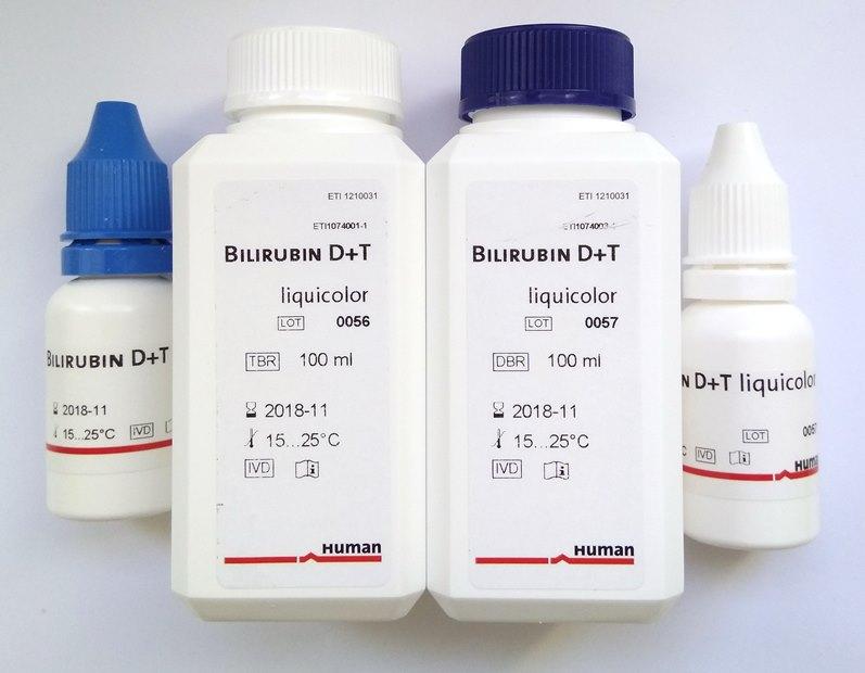 Набор реагентов для определения содержания билирубина в сыворотке крови.