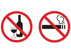 запрет на алкоголь и сигареты