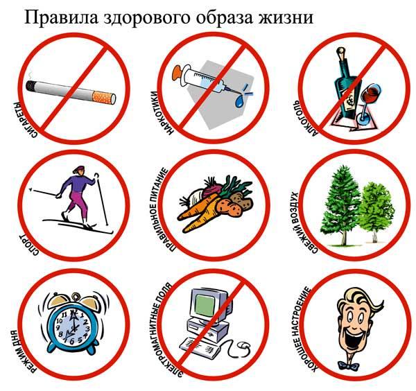 правила здорового образа жизни рисунок